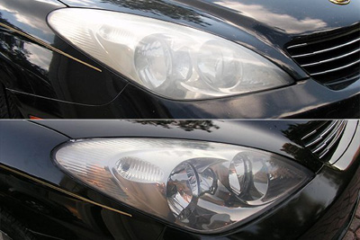 نحوه تمیز کردن چراغ خودرو و شیوه ی برق انداختن آن